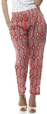 Lyla Regular Fit Women's Red Trousers