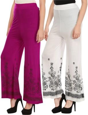 Haniya Regular Fit Womens Pink, White Trousers