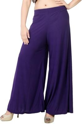 Bottoms More Slim Fit Women's Purple Trousers