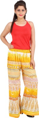 Ceil Regular Fit Women's Multicolor, Yellow Trousers