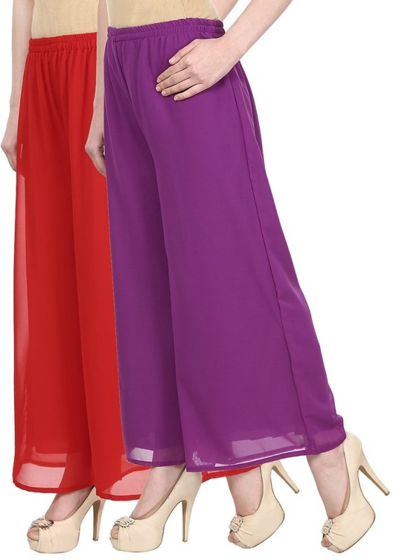 SYS Regular Fit Women's Red, Purple Trousers