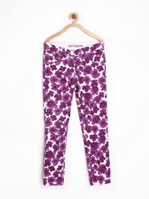 612 League Regular Fit Girl's Purple Trousers