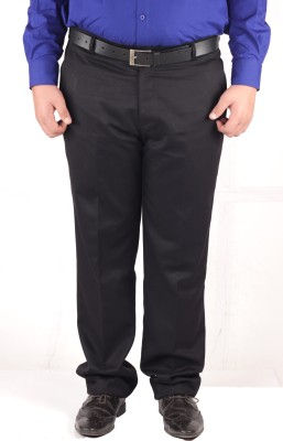 RIPARV Slim Fit Men's Black Trousers