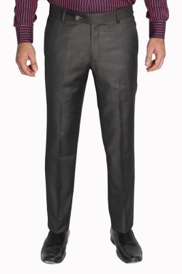 legato Slim Fit Men's Brown Trousers
