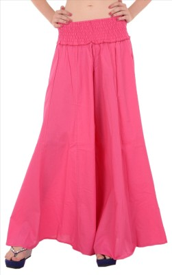 Skirts & Scarves Regular Fit Womens Pink Trousers