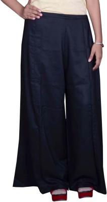 Pezzava Regular Fit Women's Black Trousers