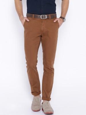 Harvard Slim Fit Men,s Brown Trousers