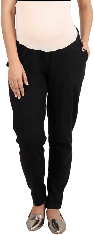 9teen Again Regular Fit Women's Black Trousers