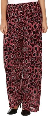 Shahfali Regular Fit Women's Red, Black Trousers
