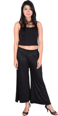 Sweekash Regular Fit Women's Black Trousers
