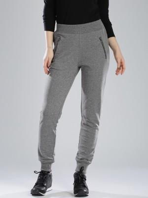 HRX by Hrithik Roshan Regular Fit Women's Grey Trousers