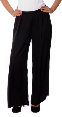 House of Tantrums Regular Fit Women,s Black Trousers