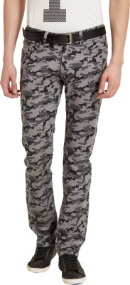 Flying Machine Slim Fit Men's Grey Trousers