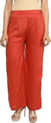 Indibox Regular Fit Women's Brown Trousers