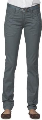 Ixia Slim Fit Women's Green Trousers