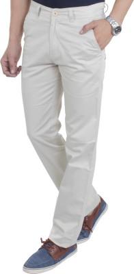 Makeover Slim Fit Men's White Trousers