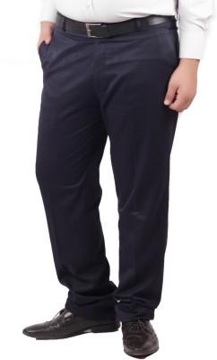 RIPARV Slim Fit Men's Blue Trousers