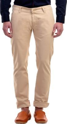 Zavlin Slim Fit Men's Beige Trousers