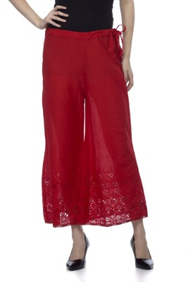 One Femme Regular Fit Women's Red Trousers