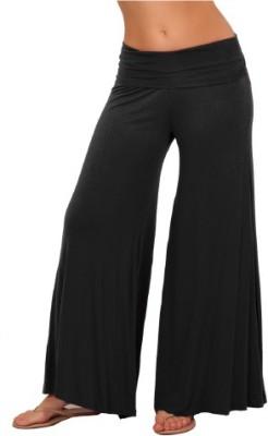 leox Regular Fit Women's Black Trousers