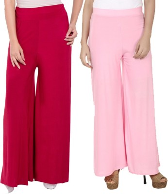 Komal Trading Co Regular Fit Women's Maroon, Pink Trousers