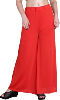Phashion Town Regular Fit Women's Red Trousers at flipkart