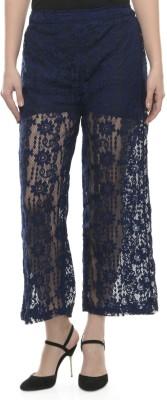 Mayra Regular Fit Women's Blue Trousers