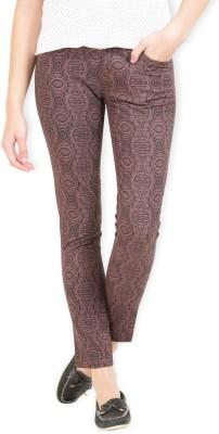Max Skinny Fit Women's Maroon Trousers