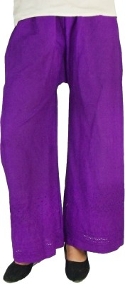 B VOS Regular Fit Women's Purple Trousers