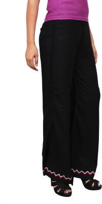 1To9 Regular Fit Womens Black Trousers