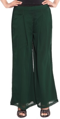 Twinkal Regular Fit Women's Green Trousers