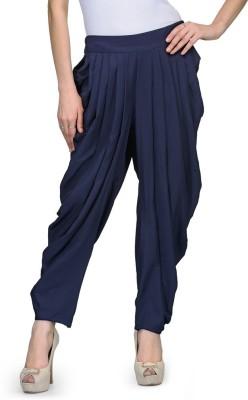 Natty India Regular Fit Women's Dark Blue Trousers