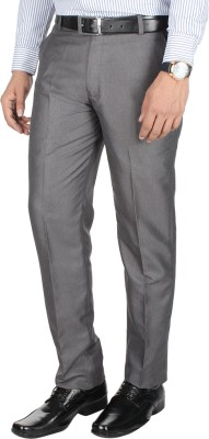 GALLOWAY Regular Fit Men's Grey Trousers
