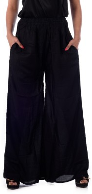 Patterns Lets Create Regular Fit Women's Black Trousers