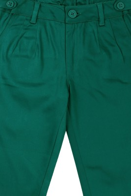ShopperTree Regular Fit Girl's Green Trousers