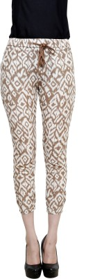 I Am For You Regular Fit Women,s Linen Brown Trousers