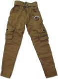 Vio Regular Fit Boys Grey, Beige Trouser...