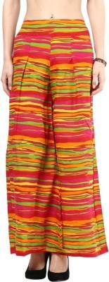 Seven East Regular Fit Women's Multicolor Trousers