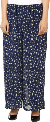 Vivaa Regular Fit Women's Blue, Yellow Trousers