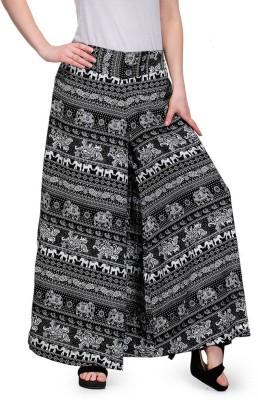 Stop Look Regular Fit Women's Black, White Trousers at flipkart