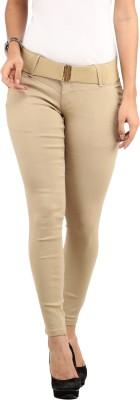 Lotus Slim Fit Women's Beige Trousers