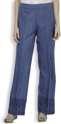 Tokyo Talkies Regular Fit Women's Blue Trousers