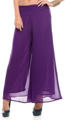 shreya Regular Fit Women's Purple Trousers