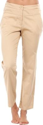 Mustard Regular Fit Women's Beige Trousers