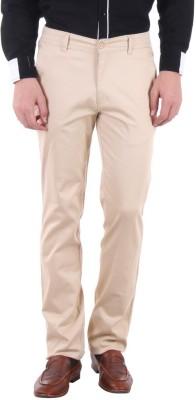 Routeen Slim Fit Men,s Beige Trousers