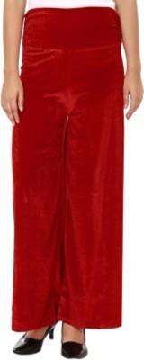 pinksisly Regular Fit Women's Maroon Trousers