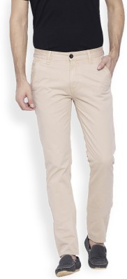 OFFLINE Slim Fit Men,s Cream Trousers