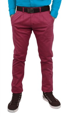 Hartmann Slim Fit Men's Maroon Trousers