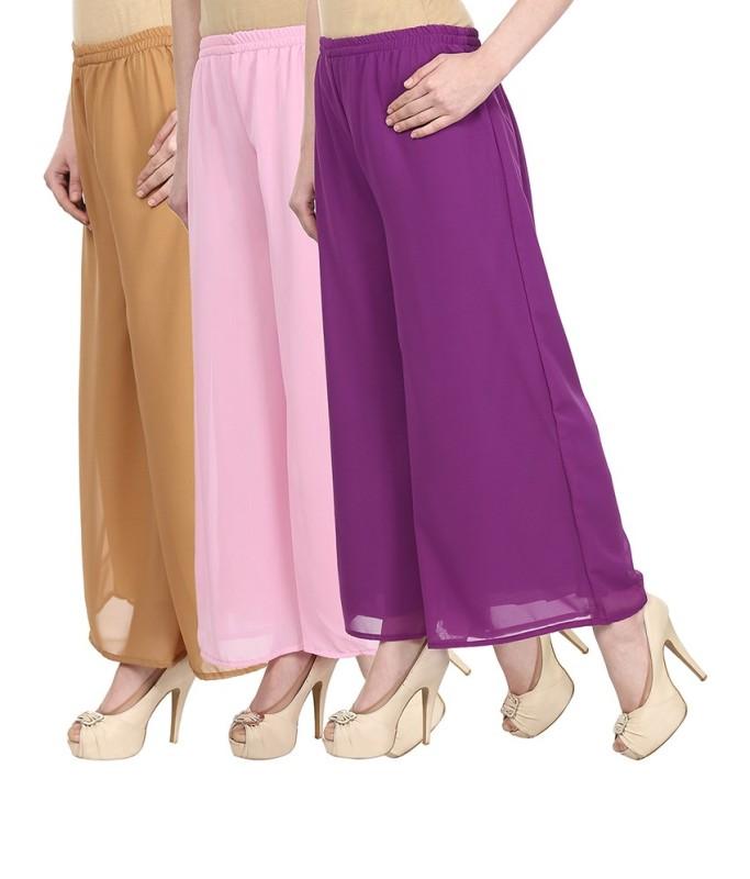 SYS Regular Fit Women's Beige, Pink, Purple Trousers