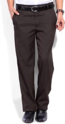 John Players Regular Fit Men's Brown Trousers